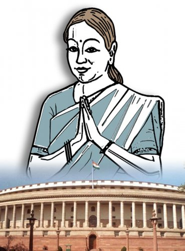 Representation of women in Parliament. DH Graphics