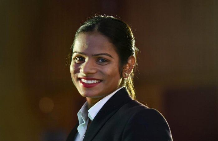 CONFIDENT Indian sprinter Dutee Chand acknowledged the support from Pullela Gopichand . PTI