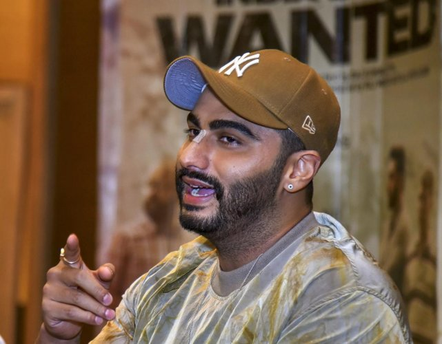 New Delhi: Bollywood actor Arjun Kapoor addresses a press conference for his upcoming film 'India's Most Wanted'. (Photo PTI)