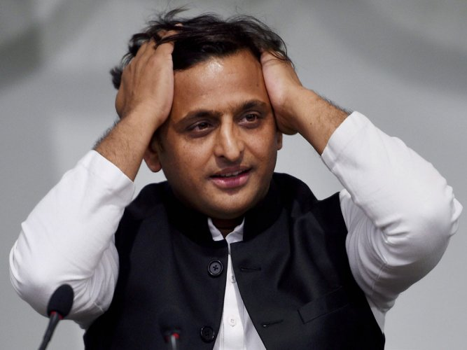 A day after curtains came down on polling, there was silence in the opposition party's office, with Yadav closeted with SP leaders to discuss future strategy after May 23 results of the lower house of Parliament. PTI File photo