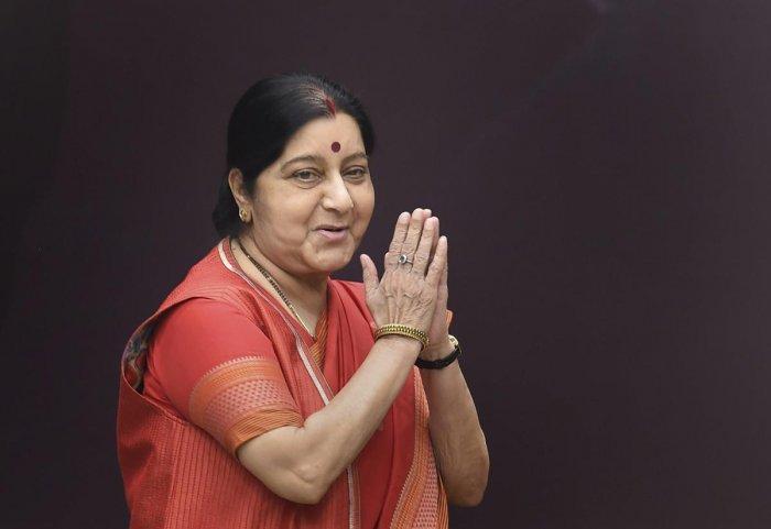 External Affairs Minister Sushma Swaraj (Photo PTI)