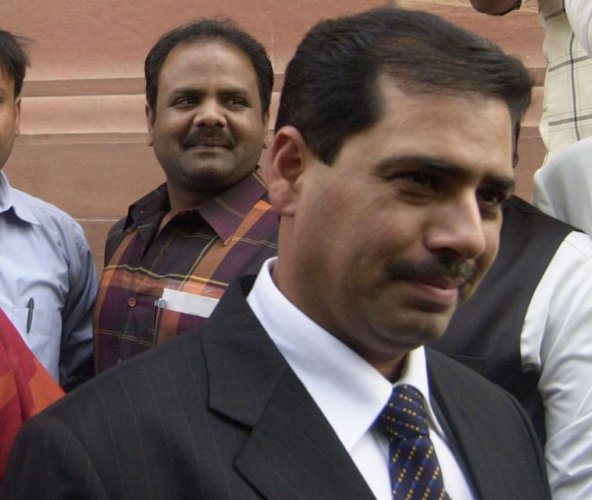 Robert Vadra, who is an accused in a money laundering case, on Tuesday moved a Delhi court seeking permission to travel abroad. PTI file photo