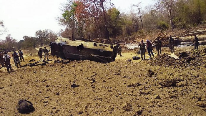 Security personnel inspect the site of blast (PTI file Photo for representation)