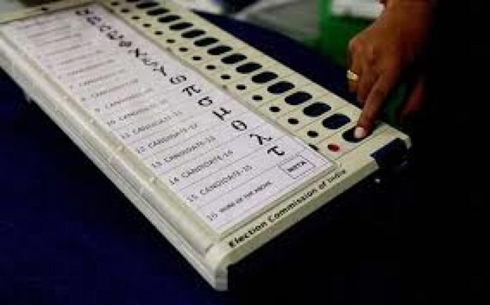 """Singh said the EVM is """"robust by design"""" and there is no way the machine can be tampered with. File photo"""