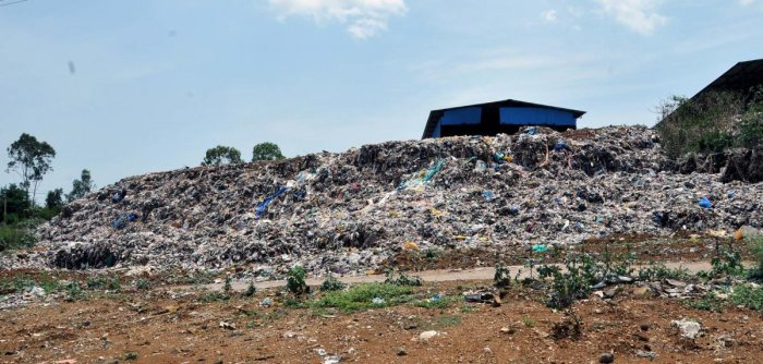 The heap of garbage dumped at Indavara village.