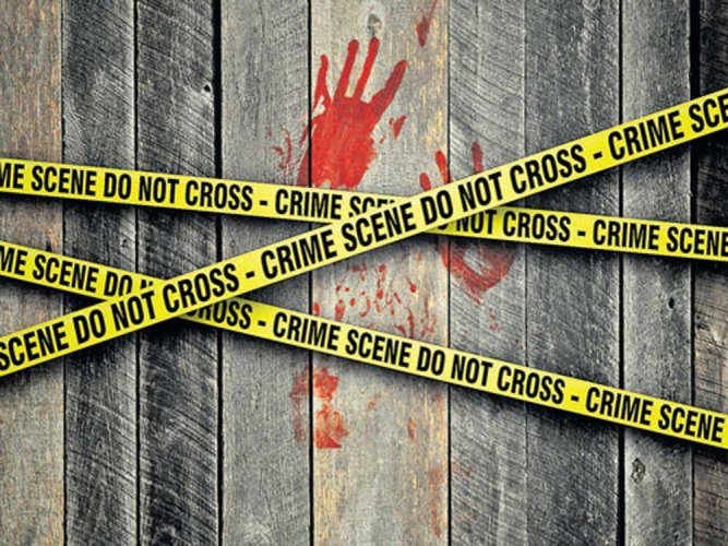 A 22-year-old man allegedly killed his father over a property dispute, by strangling and stabbing him, and then chopped up the body into 25 pieces at his home in Shahadra, police said on Wednesday.