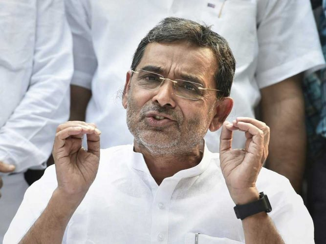 """The BJP-led alliance in Bihar has slammed former Union Minister and RLSP president Upendra Kushwaha for his threat of """"bloodshed if the mandate was hijacked on the day of counting on Thursday."""" PTI file photo"""