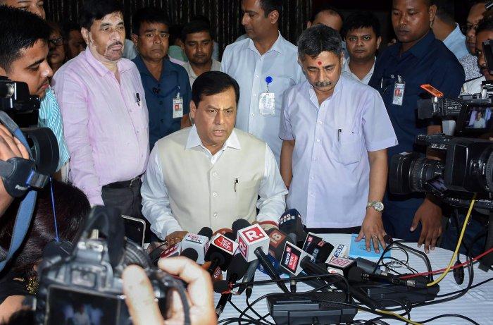 Assam Chief Minister Sarbananda Sonowal. (PTI File Photo)