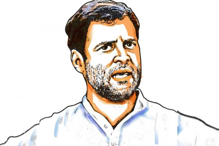 The Congress tally stood at 51 seats at the time of writing, a total increase of seven seats as compared to its 2014 tally. The party was unable to win a single seat in over a dozen states and Gandhi himself lost in the family pocket borough of Amethi to BJP's Smriti Irani. (DH Illustration)