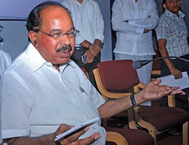 Former Karnataka Chief Minister M Veerappa Moily. (TPML Photo)