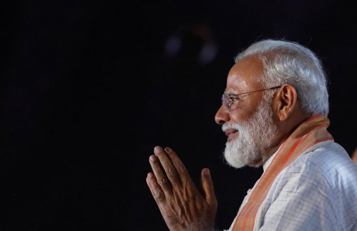 Prime Minister Modi-led Bharatiya Janata Party (BJP) appears set to post an emphatic victory in the Lok Sabha election, bringing Modi back into the office for a second term. Reuters File photo