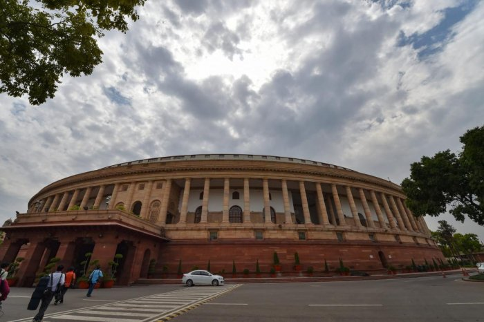 A view of the Parliment House ahead of the Lok Sabha elections results in New Delhi, Wednesday, May 22, 2019. PTI