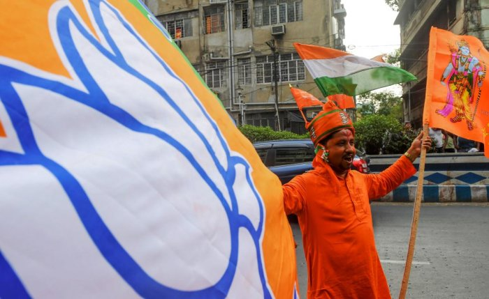 If the BJP wins nine or even the 10th seat, it will be the party's best-ever performance, surpassing the previous best in 2014 when it won seven of the eight it contested. AFP Photo
