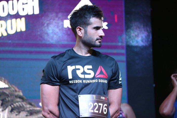 Karan Tacker at the midnight marathon hosted by Reebok.
