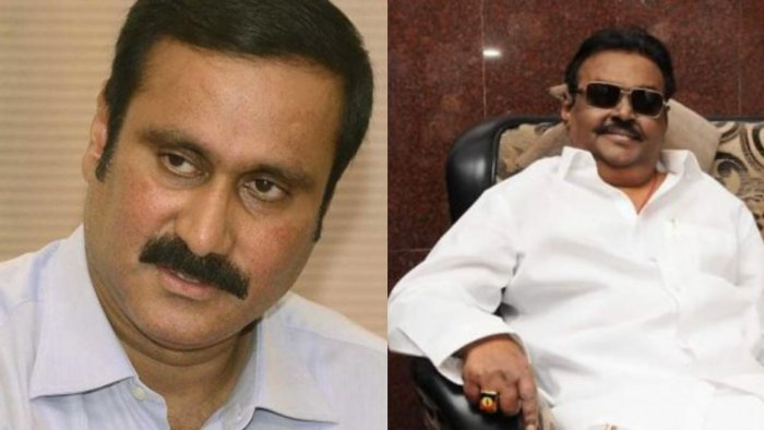 Anbumani Ramadoss (Left) and Vijayakanth (Right).