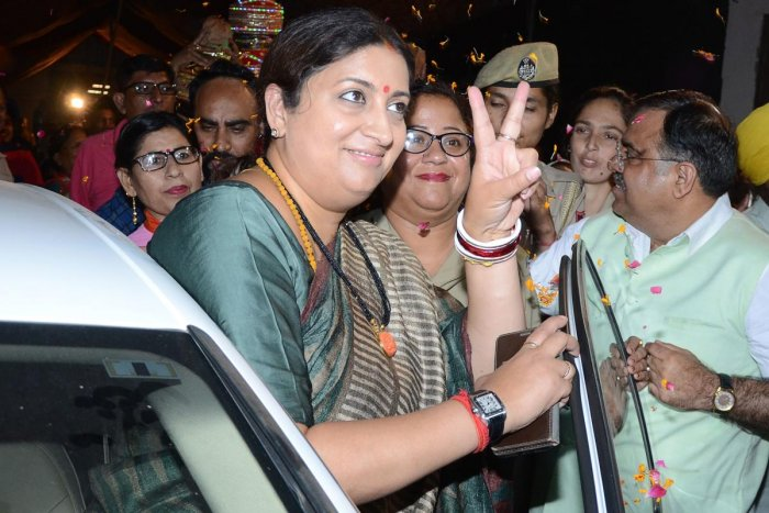 The giant killer among the women MPs is Smriti Irani, who defeated Congress president Rahul Gandhi in Amethi. (AFP File Photo)