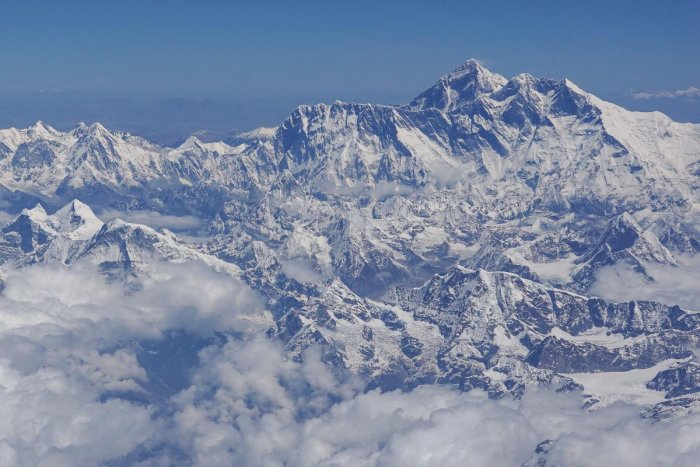 Aerial view of Mount Everest (centre R) is pictured on a flight from Nepal to Bhutan. (AFP File photo)