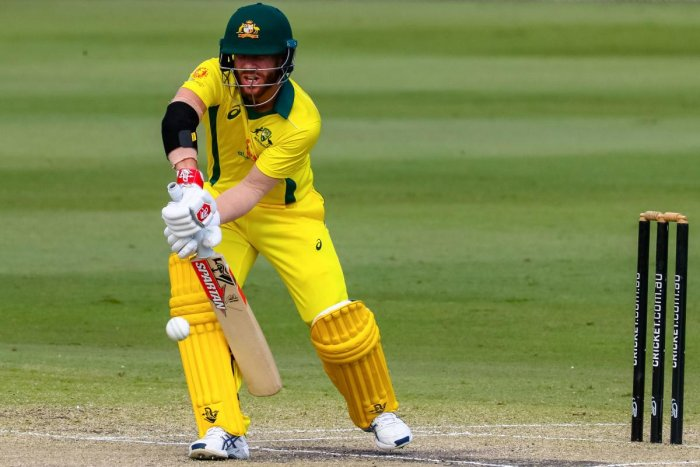 BIG GUN: Australian opener David Warner will be keen to make up for the lost time. AFP