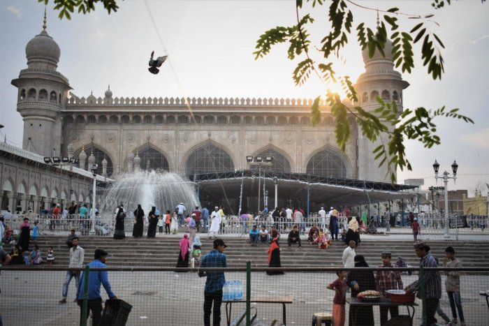 IMPOSING Mecca Masjid. PHOTOS BY AUTHORS