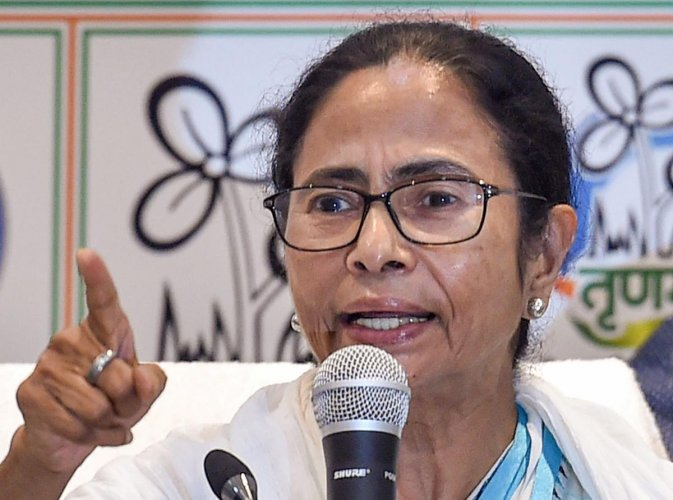 West Bengal Chief Minister and TMC Supremo Mamata Banerjee during interaction with media at the end party poll result review meeting at her Kalighat residence in Kolkata, Saturday, May 25, 2019. (PTI Photo/Swapan Mahapatra)