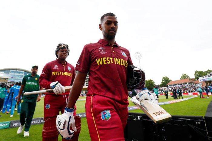 West Indies' Nicholas Pooran and Shimron Hetmyer. (Reuters)