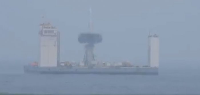 China successfully launched a rocket from a ship at sea for the first time on Wednesday, state media reported, the latest step forward in its ambitious space programme.