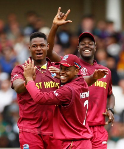 LETHAL: Apart from Oshane Thomas, the West Indies' pace attack of Jason Holder, Andre Russell and Sheldon Cottrell will pose a stern test to Australia on Thursday. REUTERS