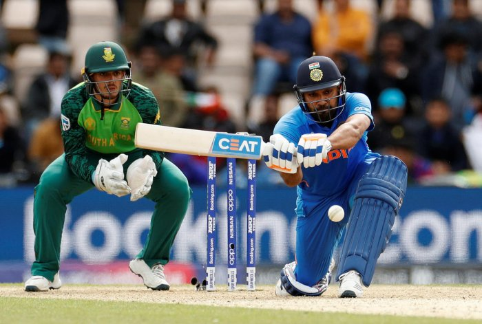 Top-notch Stuff: India's Rohit Sharma sweeps one to the boundary during his match-winning century against South Africa. REUTERS