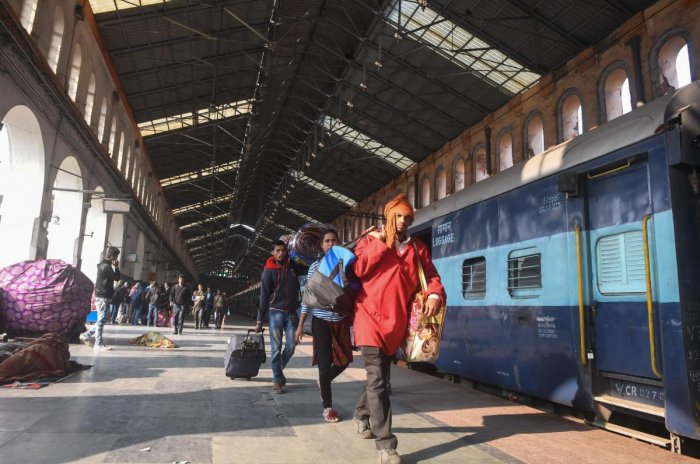 While railway officials initially said the suspicious materials found on the train appeared to be gelatin sticks, Kamble said they were plastic pipes. AFP File Photo