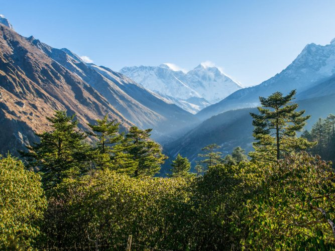 Himalaya mountain views on route to Everest Base Camp. File Photo