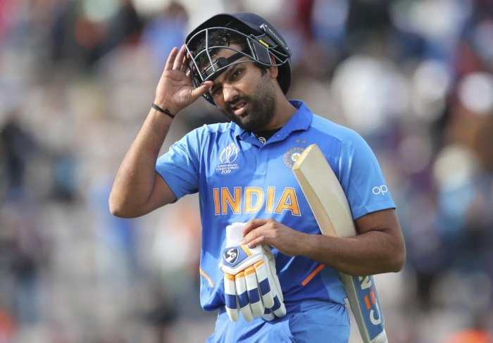 India's Rohit Sharma takes off his helmet as he leaves the field after their win over South Africa in the Cricket World Cup match at the Hampshire Bowl in Southampton, England, Wednesday, June 5, 2019. (AP/PTI)