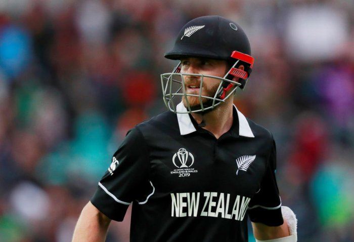 Zealand's Kane Williamson looks dejected as he walks off after losing his wicket. (Reuters)