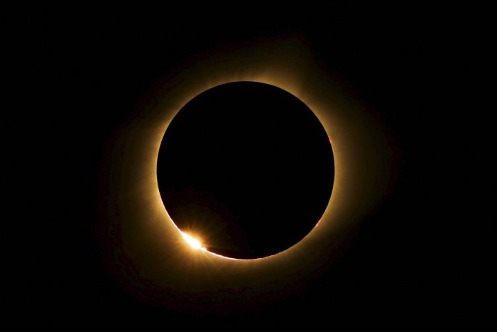 burning halo: A total solar eclipse visible from Farmington, Missouri in 2017. A similar total solar eclipse on May 29, 1919, made Einstein a celebrity scientist. PTI