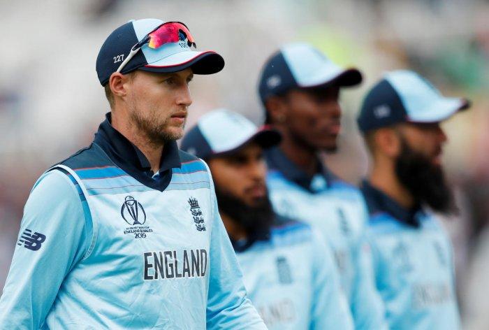 England's Joe Root, Adil Rashid, Jofra Archer and Moeen Ali. (Reuters)
