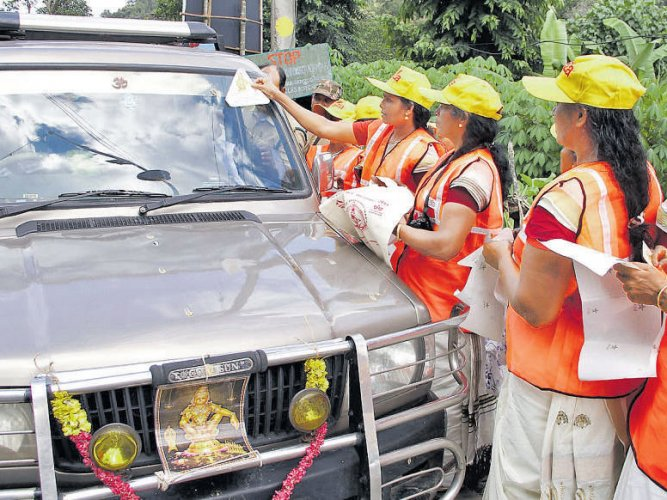 Anti-plastic drive in Sabarimala intensifies