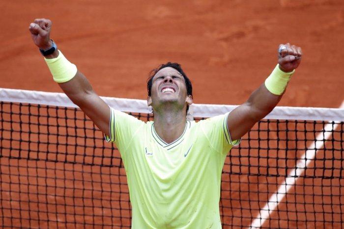 Tennis - French Open - Roland Garros, Paris, France - June 9, 2019. Spain's Rafael Nadal celebrates after his final match against Austria's Dominic Thiem. REUTERS/Charles Platiau