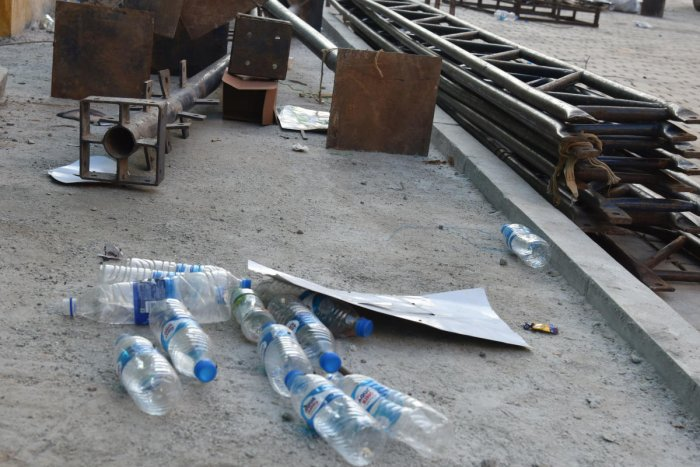 No less than 300 single-use packaged plastic water bottles are discarded daily on the premises of the Vidhana Soudha and Vikasa Soudha. DH File Photo