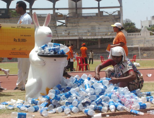 No plastic carry bags, bottles, plates, cups, spoons, straws or table spreads will be used at any BBMP event. DH FILE PHOTO