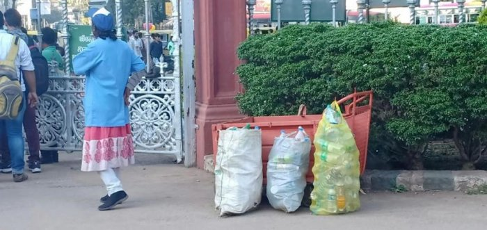 The Lalbagh authorities have banned plastic bottles and food items packaged in plastic inside the garden.