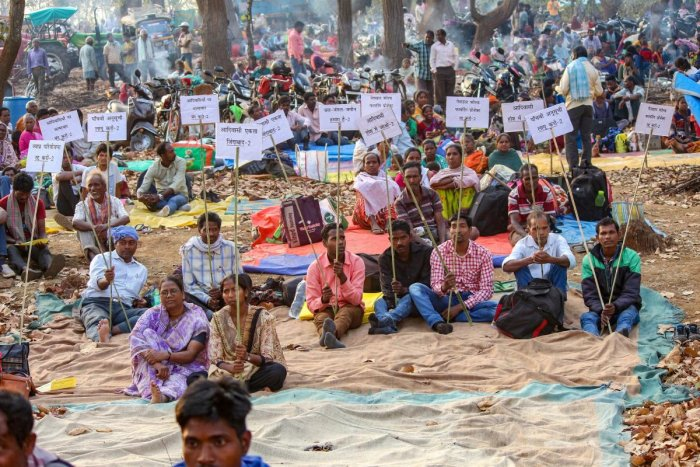 Hundreds of tribals in Chhattisgarh's Dantewada district continued their agitation for the fourth day on Monday against mining on a hill which they worship as a deity. (PTI File Photo)