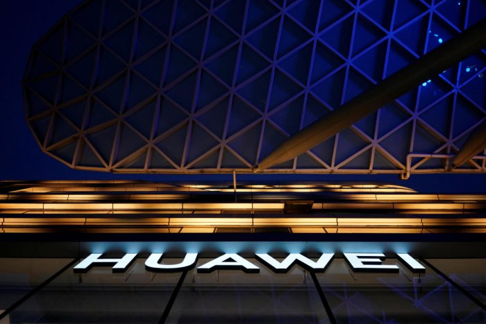 A Huawei company logo is seen at a shopping mall in Shanghai. (Reuters File Photo)