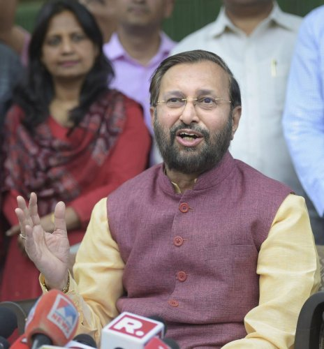Javadekar, who is the Minister for Environment, Forests and Climate Change, was speaking after conducting a review of the 'Project for Pollution Abatement of River Mula Mutha in Pune'. (PTI File Photo)