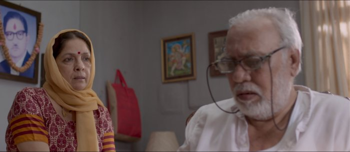 Neena Gupta and Lalit Behl in a still from 'Adi Sonal', directed by Heena D'Souza.