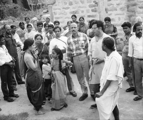Girish Karnad during the shooting of one of his films.