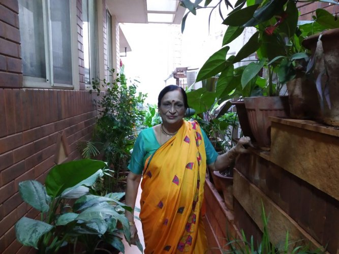Manjula Subbanna volunteers at an NGO that works for a cleaner and greener city