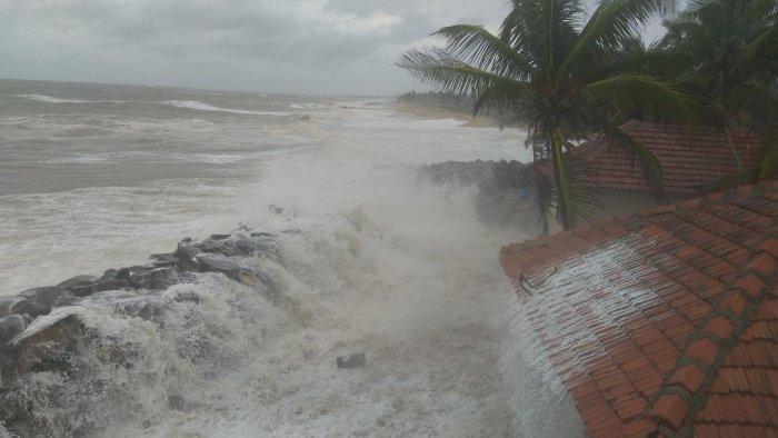 Sea erosion has intensified in Ullal, Dakshina Kannada district.