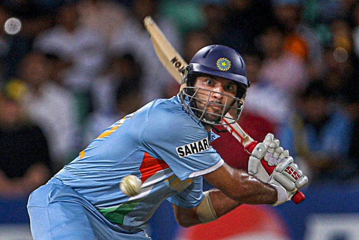 Yuvraj played 40 Tests, 304 ODIs and 58 T20Is for India. He put together 1900 runs in the longest format, and 8701 in the one-dayers, the format in which he enjoyed most success. PTI file photo