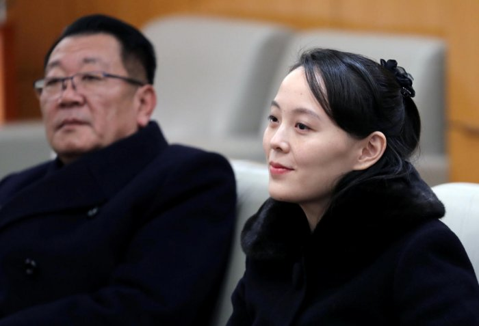 North Korean leader Kim Jong Un's sister met South Korean officials on their heavily defended border on Wednesday to deliver flowers and her brother's condolences over the death of a former South Korean first lady. (Reuters File Photo)