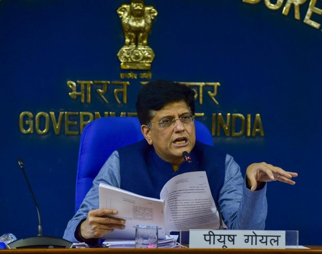 Union minister Piyush Goyal was on Wednesday appointed as the Deputy Leader of the House in Rajya Sabha, sources said. PTI file photo