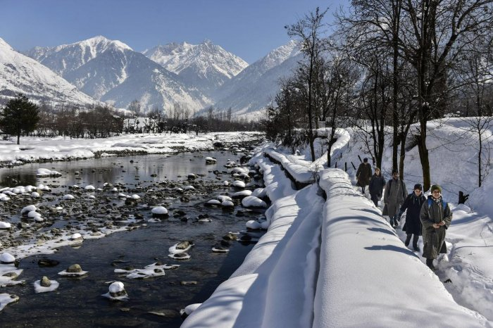 It was after a long time that the upper reaches of Kashmir received snowfall in June. The MeT office has forecast more rains and gusty winds in most places in Kashmir and Jammu divisions in the next 24 hours. PTI file photo
